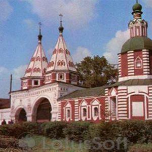 """""""Святые врата"""" Ризоположенского монастыря. Суздаль, 1978 год"""