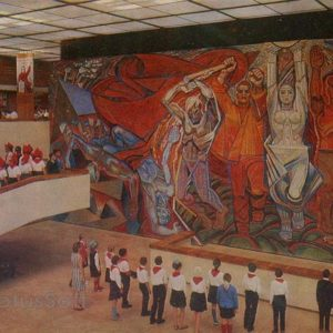 """Мозаичное панно """"Знамя победы"""" в музее """"Молодая гвардия"""", 1978 год"""