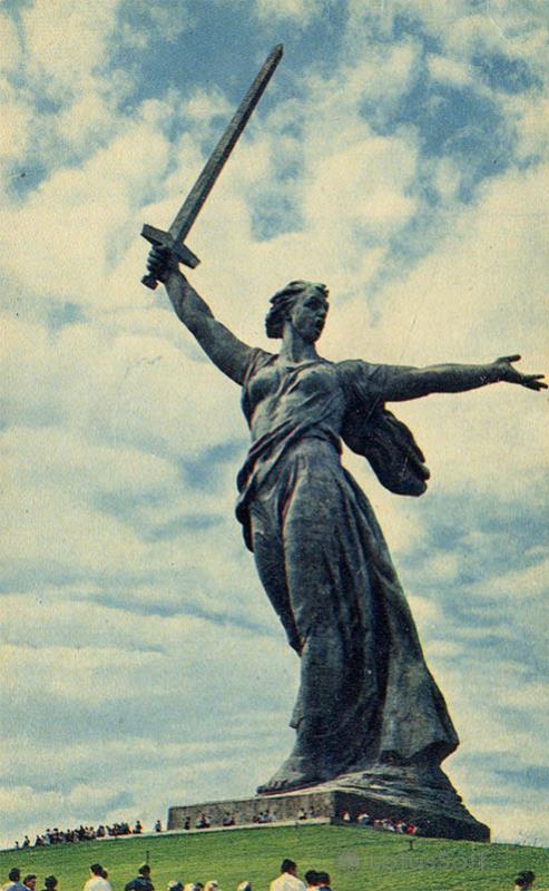 Главный монумент памятника-ансамбля героев Сталинградской битвы. Волгоград, 1968 год
