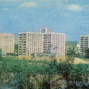 New buildings in the Railway area. Eagle, 1983