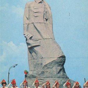 Shepetivka city. The monument to Nikolai Ostrovsky, 1978