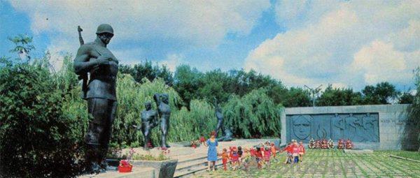 г. Дунаевцы. Мемориальный комплекс в честь воинов погибших в годы войны, 1978 год
