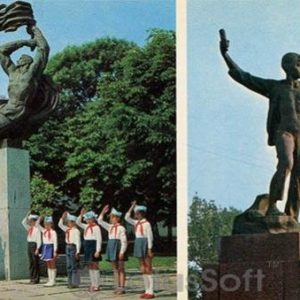 Khmelnitsky. The memorial complex in honor of soldiers who died during the war, in 1978