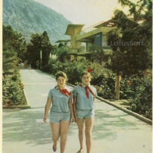 Central alley of the Artek camp. Crimea, 1964