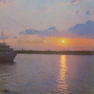 Sunset on the Volga. Astrakhan, 1970