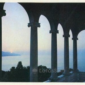 Вид на море с колоннады дворца. Ливадийский дворец, 1978 год