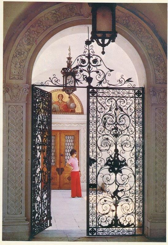 Ворота Итальянского дворика. Ливадийский дворец, 1978 год