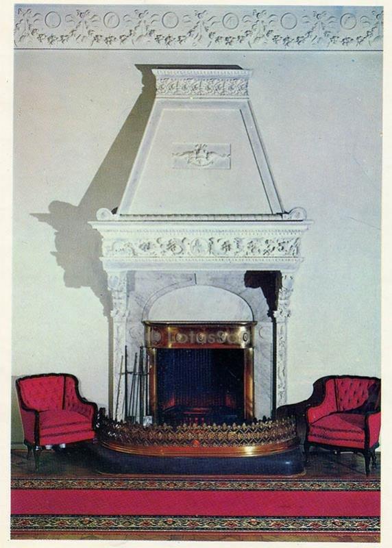 Lobby. Fireplace. Livadia Palace, 1978