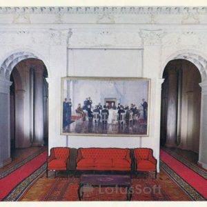 """Вестибюль. Картина """"Крымская конференция"""". Ливадийский дворец, 1978 год"""