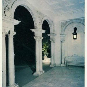 Portico of the main entrance of the palace. Livadia Palace, 1978