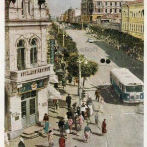 Leningradskaya Street. Kuibyshev, 1964