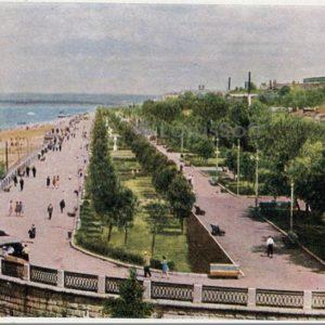 The monument on the embankment of the Volga River. Kuibyshev, 1964