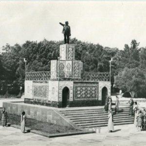 Памятник В.И. Ленину. Ашхабад, 1979 год