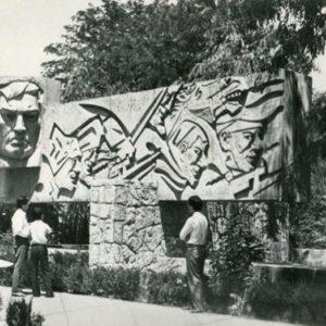 Monument K. Atabayev. Ashgabat, 1979