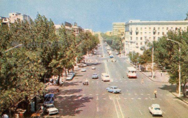 Ворошиловский проспект. Ростов на Дону, 1973 год