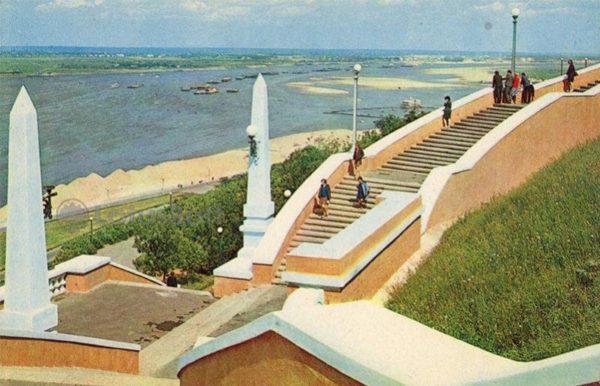 Stairway to the Volga. Nizhny Novgorod, Gorky), 1970