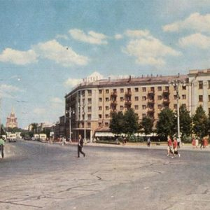 Lenin Square and the street of the Revolution. Ryazan, 1967
