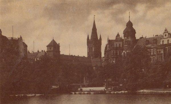 Вид на Кёнигсберский замок и Мюнцплатц. Клининград, Кёнигсберг), 1990 год
