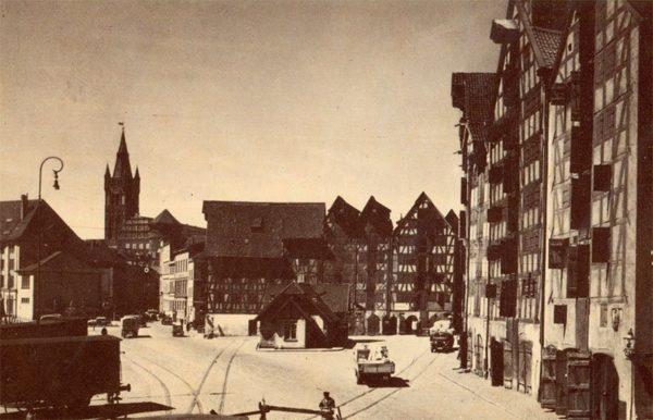 Вид на замок со стороны района Лаштадиен. Клининград, Кёнигсберг), 1990 год