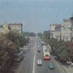 the VI Avenue Lenin. Chisinau (1974)