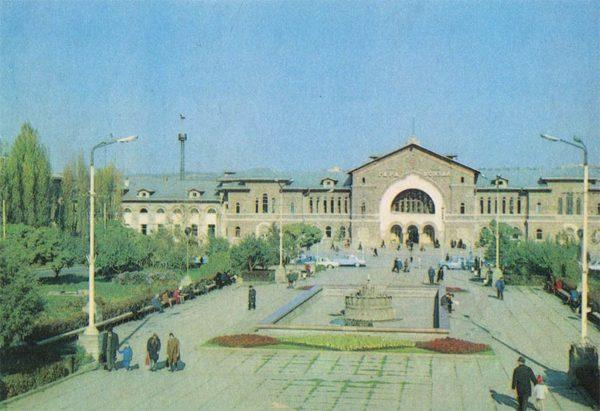 Железнодорожный вокзал. Кишинев (1974 год)