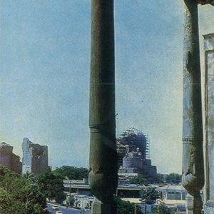 Вид на мечеть Биби-Ханым. Самарканд, 1982 год