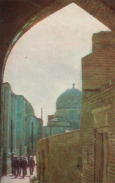 Ансамбль Шахи-Зинда. Южная группа мавзолеев. Самарканд, 1982 год