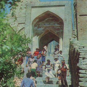 Ансамбль Шахи-Зинда. Лестница. Самарканд, 1982 год