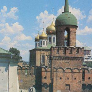 Tower Odoevsky gate - the entrance to the Kremlin. Tula, 1987