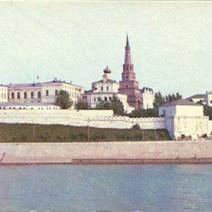Казанский Кремль. Набережная Казанки. Казань, 1977 год