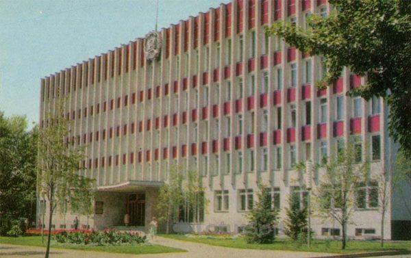 Административное здание на улице Никтинской. Воронеж, 1973 год