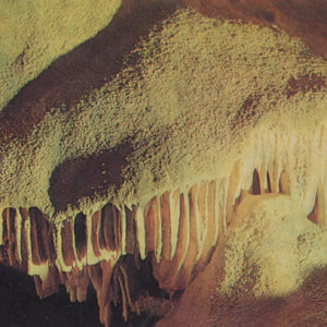 Corallite cave in an earthen room. New Athos Cave, 1980