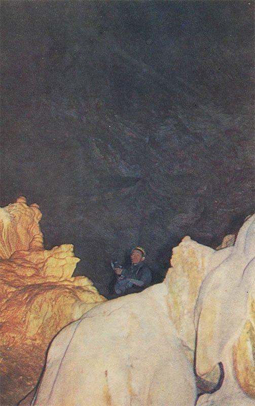 Cavers. New Athos Cave, 1980