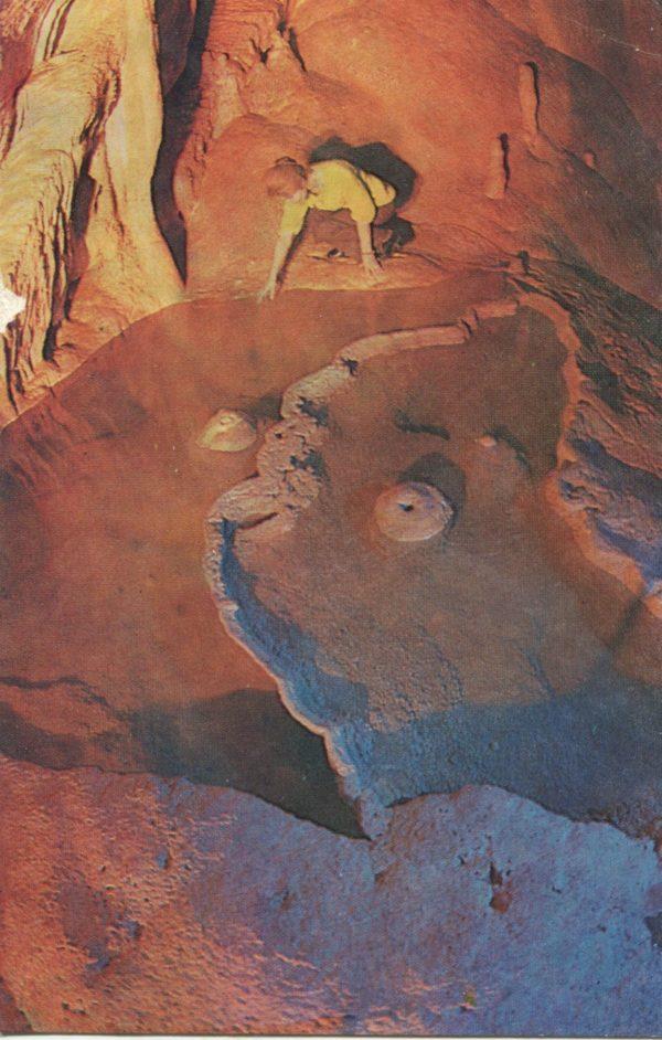 Cascades cave fountains – Gora. New Athos Cave, 1987