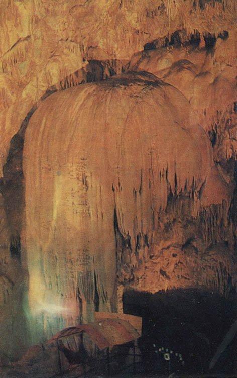 Каменный водопад. Ново-Афонская пещера, 1980 год