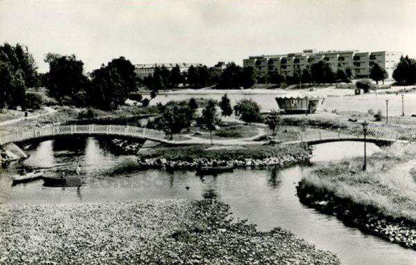 Городской парк на Лососинке. Петрозаводск, 1984 год
