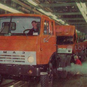 KamAZ. On the main conveyor. Naberezhnye Chelny, 1981