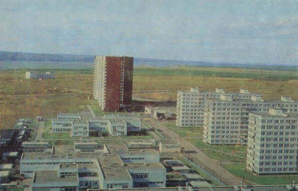 Вид на город и Каму. Набережные Челны, 1981 год