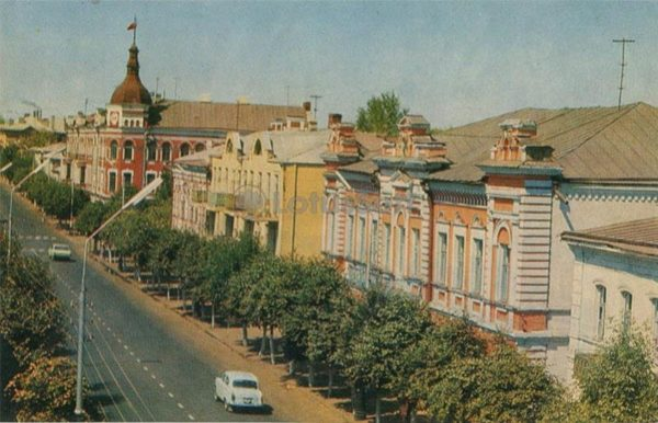 Улица Советская. Мичуринск, 1973 год