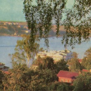 View of the marina from the WTO holiday home. Ples, 1968