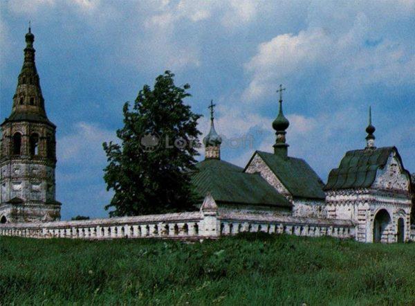 Архитектурный ансамбль Борисо-Глебского монастыря. Суздаль, 1983 год