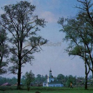 Epiphany summer and Christmas winter church. Suzdal, 1983