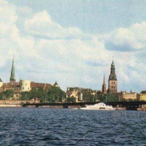 Видна Комсомольскую набережную. Рига, 1971 год