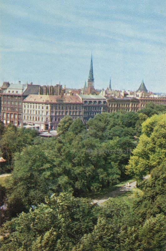View of the old town. Riga, 1971