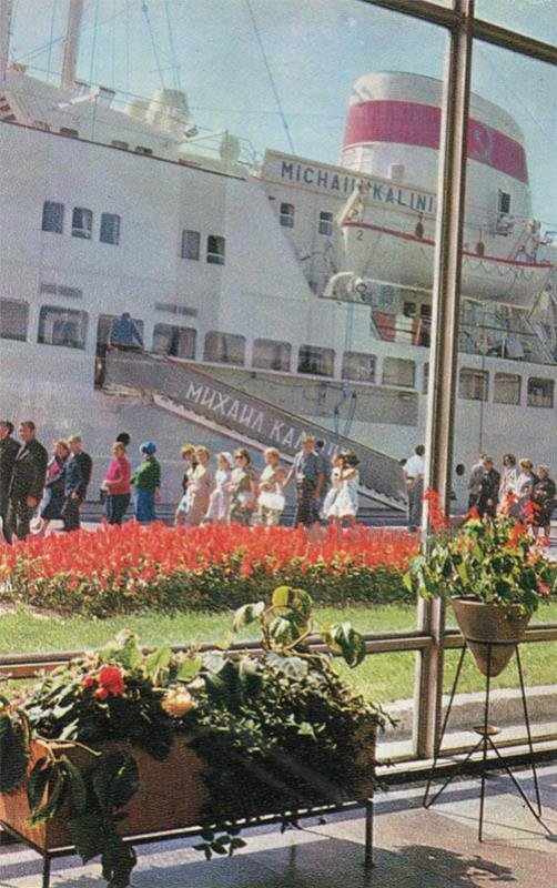 Marine passenger terminal. Riga, 1971