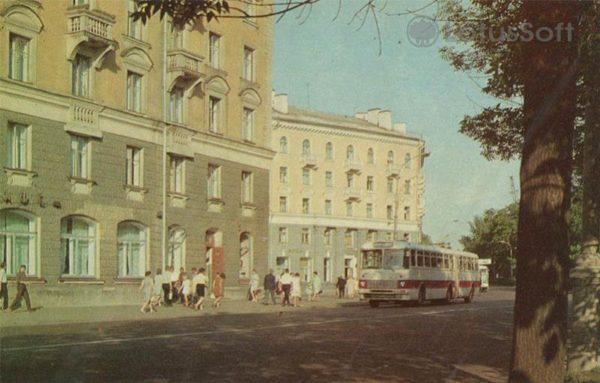 Октябрьский проспект. Псков, 1973 год