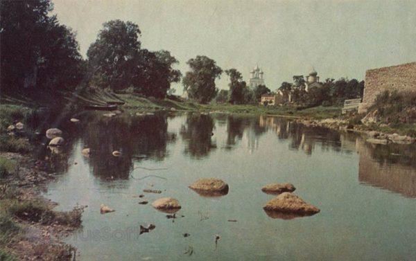 На реке Пскове. Псков, 1973 год