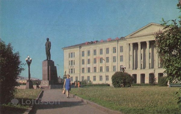 Площадь Ленина. Псков, 1973 год