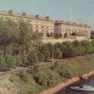 Набережная реки Великой. Псков, 1973 год