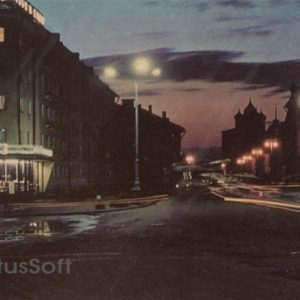In the evening on October Avenue. Pskov, 1973